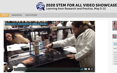 formative assessment with a bang video on NSF STEM education for all Showcase